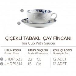 DEEP BLUE CICEKLI CAY FINCANI 10 CM